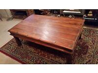 Large Java Wood Coffee Table. Hardwood table