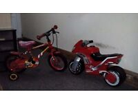 Child bike and motorbike 2for 1