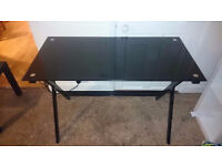 Black Glass Computer/Office Table-Desk Good Condition