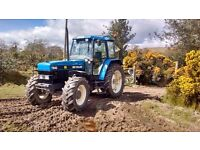 Newholland 7840 for hire plus driver