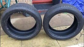 Two Nankang noble sport tyres