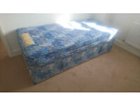 Ottoman Bed Single with matchig mattress - Built in storage Good Condition