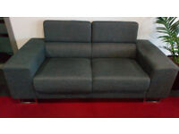 3 Double sofas, grey. Very good order. Thick padding, silver feet, very comfortable, quick sale.