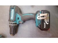 Makita LXT 18v Cordless Combi Drill /Driver, Hammer action, 1 x 3ah Battery.