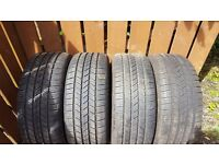 Full set of Goodyear Eagle 245 x 45 x 18 Tyres (Runflats)