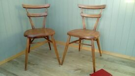 Stunning Vintage Pair of Ercol Stacking Chairs