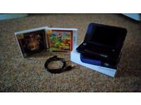 Nintendo 3DS XL Metallic Blue Mint Condition - Includes 2 Games and Charger