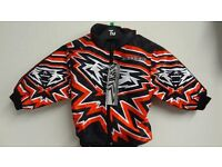 wulfsport jacket motocross motox quad youth kids red black size 24 approx age 3-4