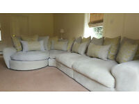 Large right hand corner sofa only 3 years old from sofology