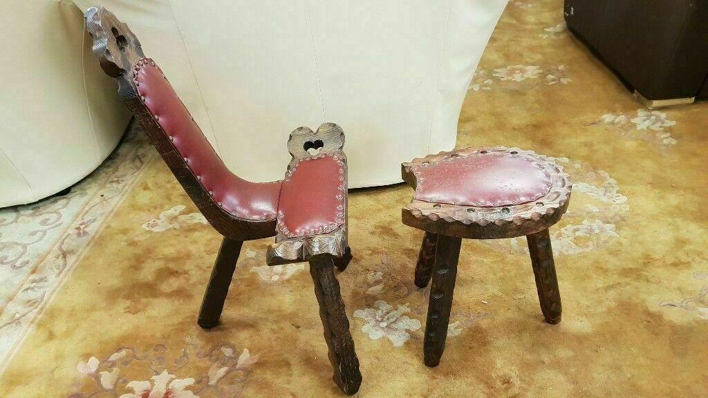 Incredible Vintage Spinning Wheel Chair Milking Stool In Bearsden Glasgow Gumtree Creativecarmelina Interior Chair Design Creativecarmelinacom