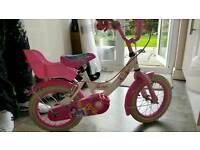 "Girls 14"" wheel bike"
