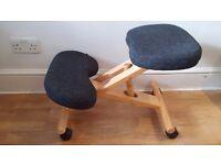 Ergonomic kneeling chair grey