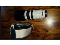 Canon EF 100-400mm 4.5-5.6 L IS USM telephoto lens with caps and pouch £700