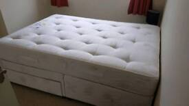 Double divan bed as new