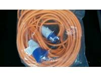 Camping mains power lead