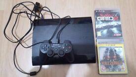 PS3 Slim + 2 Games