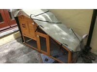 Rabbit Hutch with Cover Good Condition