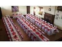80 Dining Chair covers, sashes & table runners as new