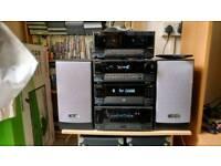 Kenwood CD. RADIO TAPE CASSETTE HIFI STACK SYSTEM