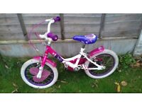 Girls bike - suits 4-6 year old - Raleigh Molly