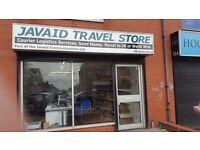 Shop Floor travel agency courier Business for sale top up card accept machine furniture included