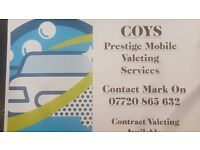 Coys Prestige Mobile Valeting Services. Cars/4x4/Estates/Vans. Can come to your home or work.