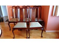 5 Mahogany Edwardian Dining chairs