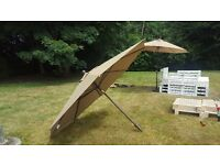 RRP 280 SunBrella 11ft wide parasol garden umbrella