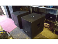 Pair of Class D sound speakers 15inch 700w each Approx 2.5ft - £280
