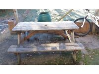 Outdoor pub table