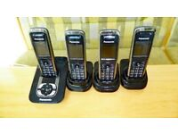 Panasonic KX-TG8421 DECT Cordless answerphone with 4 Telephones