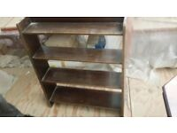 Retro 4 shelf mahogany bookcase. Great up-cycle project