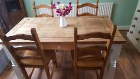 Wood table 55 x 30 inches reduced price