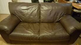 Two Chocolate Brown sofas