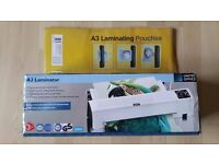A3 laminator and 150 pouches - £15