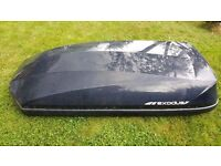 EXODUS 470L ROOF BOX - GLOSSY BLACK - VERY GOOD CONDITION