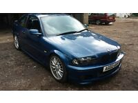 bmw 318i m sport sunroof coilovers topaz blue coupe