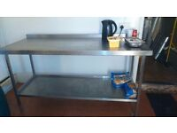 Stainless steel catering table
