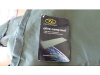 Brand new metal frame roll up camp bed