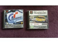 PlayStation 1 driving games x2