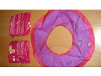 Girls Arm Bands and Rubber Ring