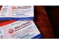REDUCED ..... 2 tickets for the British ELVIS tribute Championship