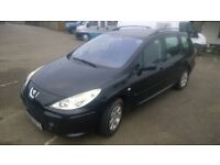 peugeot 307 hdi s estate 2005 registration, 1.6 turbo diesel , covered only 126,000 miles
