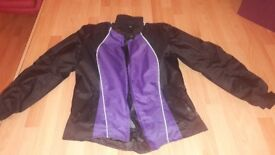 Womens motorbike jacket size L barely used