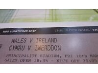 WALES v IRELAND tickets ( 2 Tickets side by side )