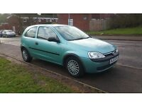 VAUXHALL CORSA 2003 DIESEL,6 month MOT,excellent condition inside and outside £499