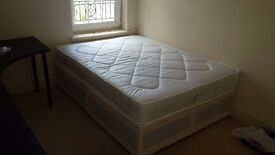 double bed with mattress 2 months old