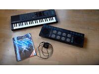Yamaha keyboard and drum bank DD-10