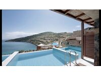5* Crete Package Holiday for 2 - half board including flights, transfers and extras