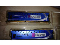 Kingston Hyper X DDR3 1600, 2 X4GB, Used on personal PC changed for bigger upgrade